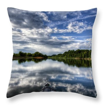 Throw Pillow featuring the photograph Rankin Bottoms Hdr by Douglas Stucky