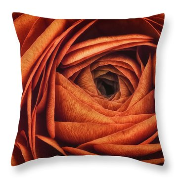 Ranonkel Oranje Throw Pillow