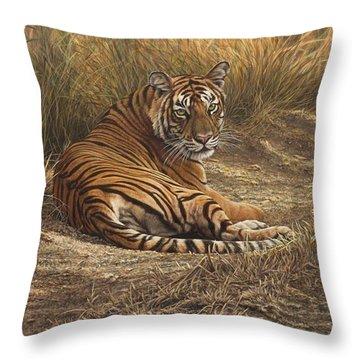 Ranthambore Roadblock Throw Pillow