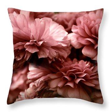 Ranunculus Petal Play Throw Pillow