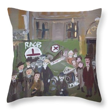Raob Ambulance Throw Pillow by Judith Desrosiers