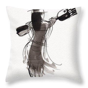 Rapa Nui Dancer Throw Pillow