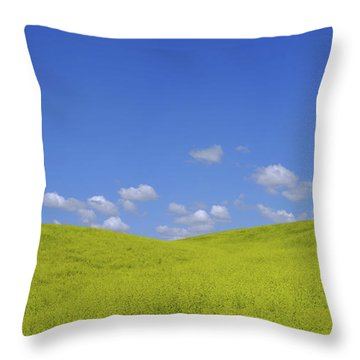 Rapeseed Landscape Throw Pillow