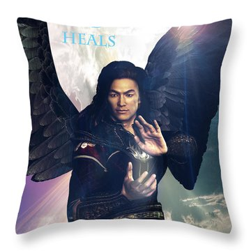 Raphael Heals 7 Throw Pillow