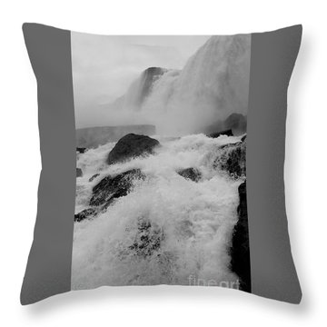 Throw Pillow featuring the photograph Rapid Stream by Raymond Earley