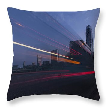 Rapid Transit Throw Pillow