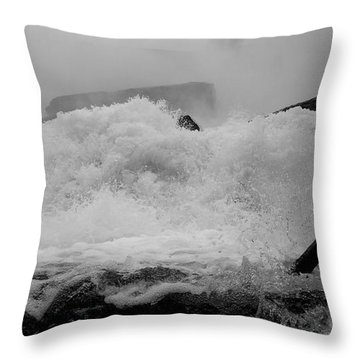 Throw Pillow featuring the photograph Rapids  by Raymond Earley