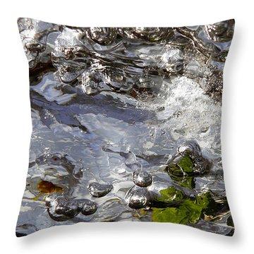 Throw Pillow featuring the photograph Rapids Swim by Sami Tiainen
