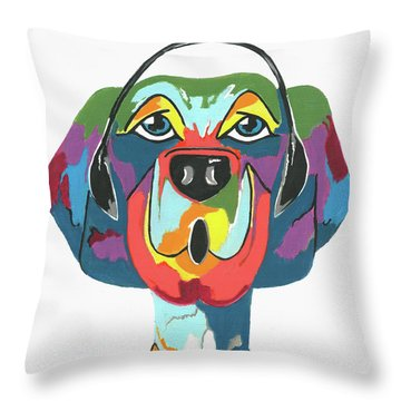 Rapping Rover - Funny  Dog Throw Pillow