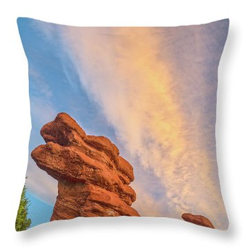 Rapt With Joy At The Presence Of Such Splendor  Throw Pillow