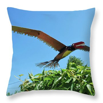 Raptor Fly Over Throw Pillow
