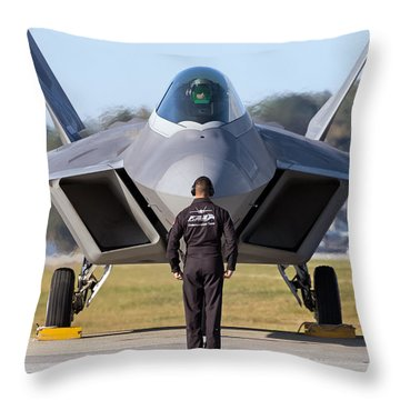 Raptor Handler II Throw Pillow