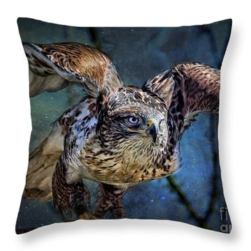 Raptor Hunter Throw Pillow