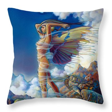 Rapture And The Ecstasea Throw Pillow by Patrick Anthony Pierson