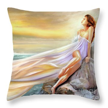 Rapture In Midst Of The Sea Throw Pillow
