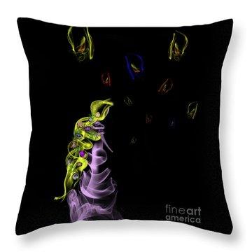 Rapunzel's Magic Flower Braid Throw Pillow