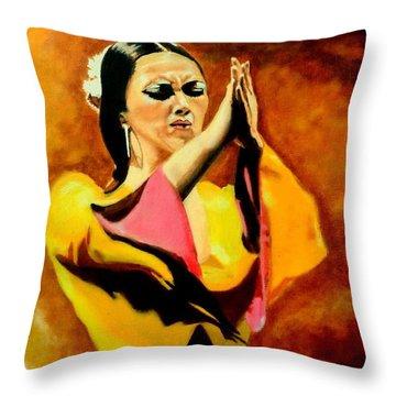 Raquel Heredia - Flamenco Dancer Sold Throw Pillow