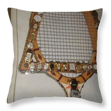Raquet At Rest Throw Pillow