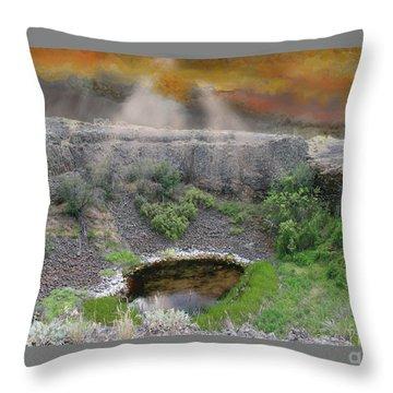 Rare Light  Throw Pillow