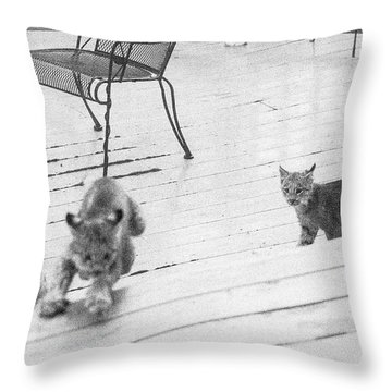 Throw Pillow featuring the photograph Relay Chase by Tim Newton