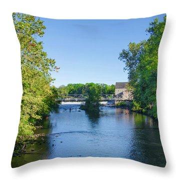 Raritan River - Clinton New Jersey  Throw Pillow by Bill Cannon