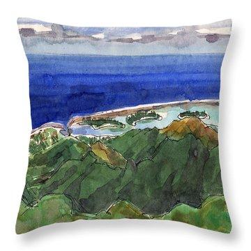 Rarotonga, View From Te Manga Throw Pillow