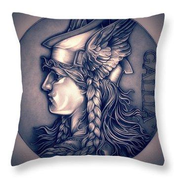 Rasberry Goddess Of Gaul Throw Pillow