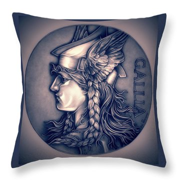 Rasberry Goddess Of Gaul Throw Pillow by Fred Larucci