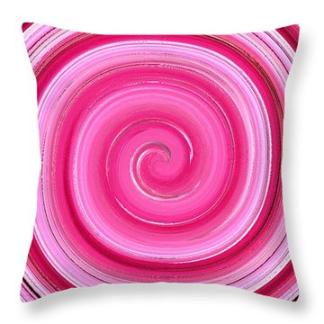 Throw Pillow featuring the digital art Rasberry Ripple  by Fine Art By Andrew David