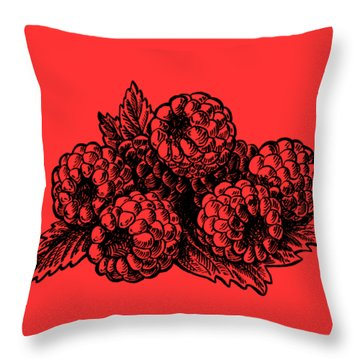 Rasbperries Throw Pillow