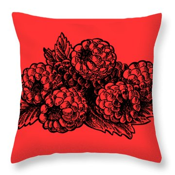 Raspberries Image Throw Pillow