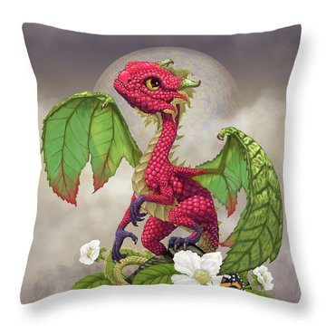 Throw Pillow featuring the digital art Raspberry Dragon by Stanley Morrison