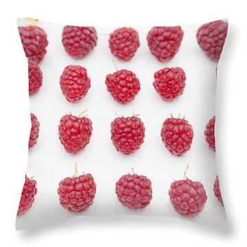 Raspberry Throw Pillow by Maj Seda