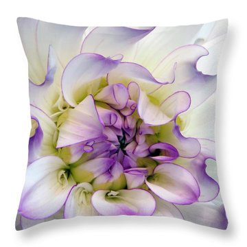 Raspberry And Cream Throw Pillow