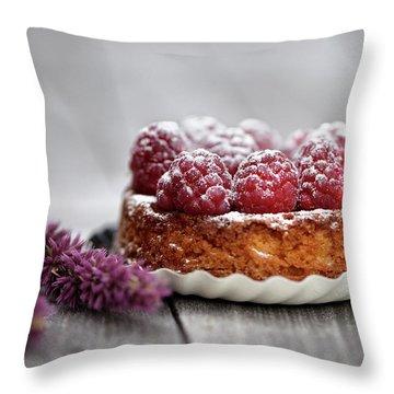 Raspberry Tarte Throw Pillow by Nailia Schwarz