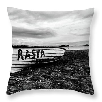 Rasta Noire  Throw Pillow