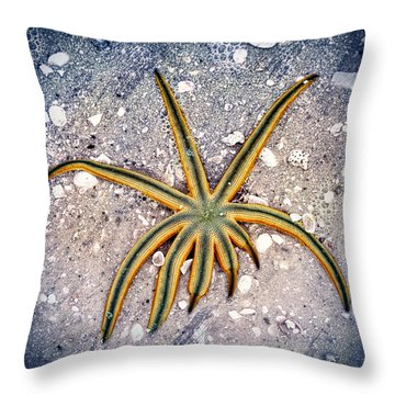 Rasta Star Throw Pillow