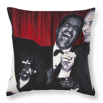 Rat Pack Throw Pillow by Luis Ludzska