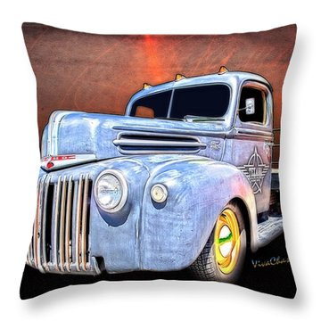 Rat Rod Flatbed Truck Texana Throw Pillow