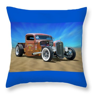 Throw Pillow featuring the photograph Rat Truck On The Beach by Mike McGlothlen