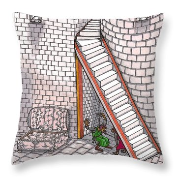 Rathbone Tells All Throw Pillow by Al Goldfarb