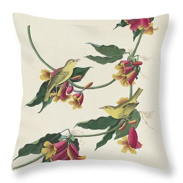 Rathbone Warbler Throw Pillow