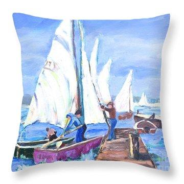 Rather Be Sailing Throw Pillow