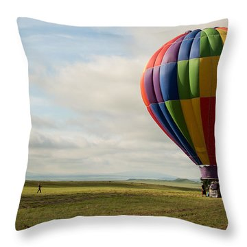 Raton Balloon Festival Throw Pillow