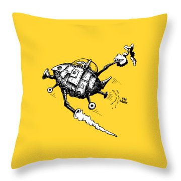 Rats In Space Throw Pillow by Kim Gauge