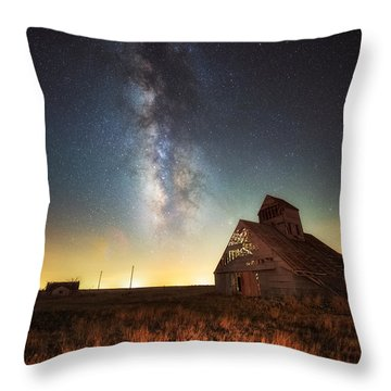 Throw Pillow featuring the photograph Rattlesnake Silo Barn by Russell Pugh