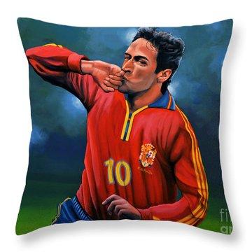 Raul Gonzalez Blanco Throw Pillow