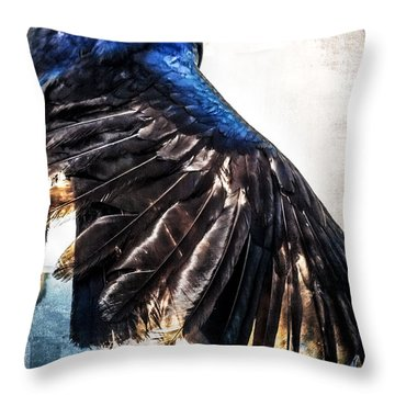 Raven Attitude Throw Pillow