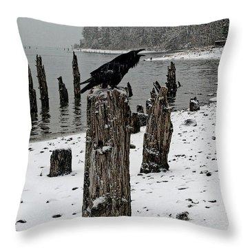 Raven Call Throw Pillow