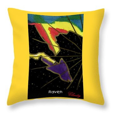 Throw Pillow featuring the painting Raven by Clarity Artists